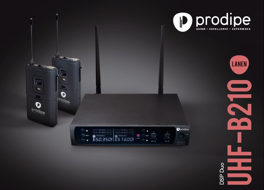 Wireless mics UHF B210 DSP Duo Prodipe