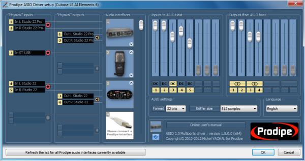Interfaces audio prodipe asio 2 prodipe.