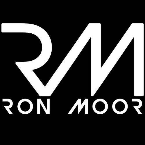 RON MOOR_Logo_White